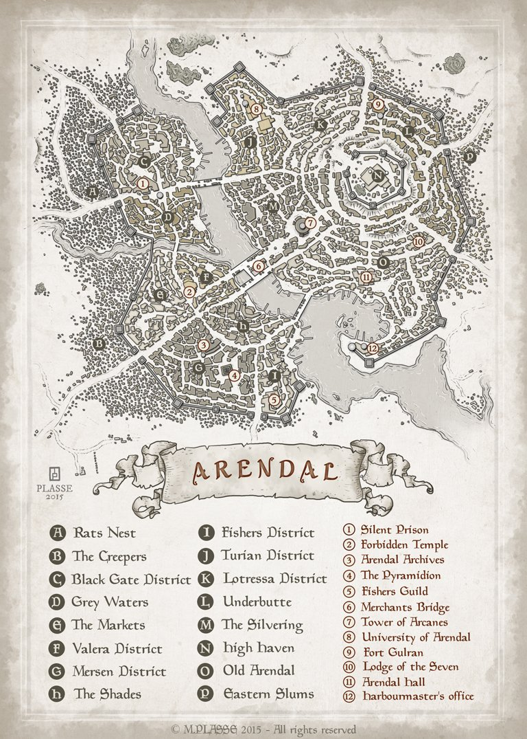A Catographers Guild City Map