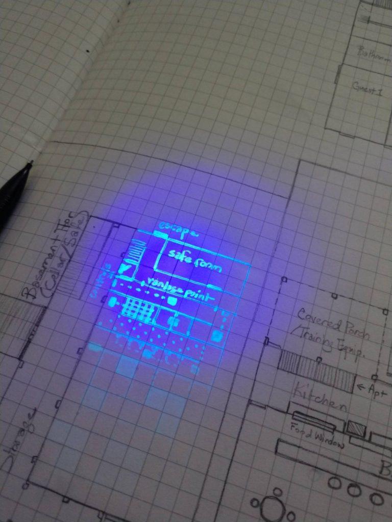 UV Ink D&D Map