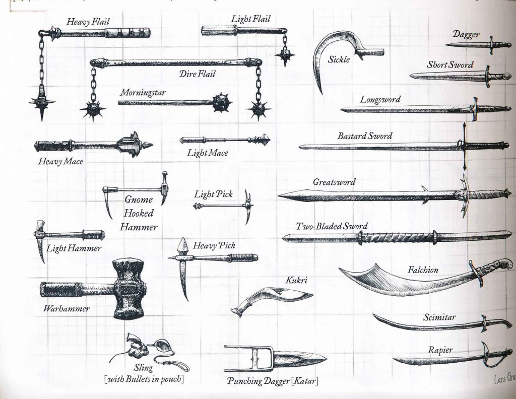 DND Melee Weapons