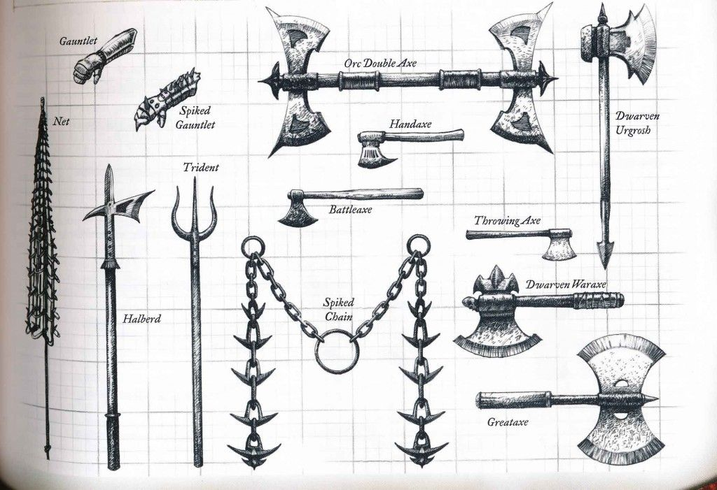 DND exotic Weapons