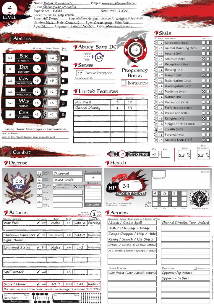 MPMB Character Sheet