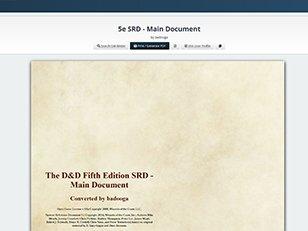 5e SRD Main Document GM Binder