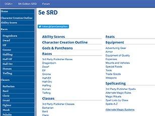 5th Edition SRD