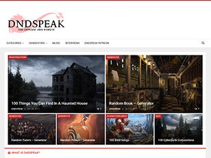 Dndspeak – Dndspeak – Extra content for your tabletop games.