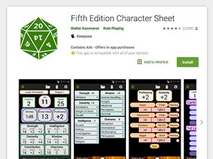 Fifth Edition Character Sheet Apps on Google Play