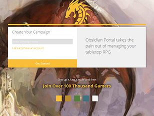 Obsidian Portal Campaign websites for Dungeons and Dragons and other tabletop RPGs