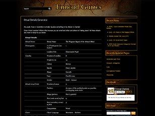 Ritual Details Generator