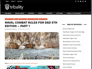 Tribality Naval Combat Rules