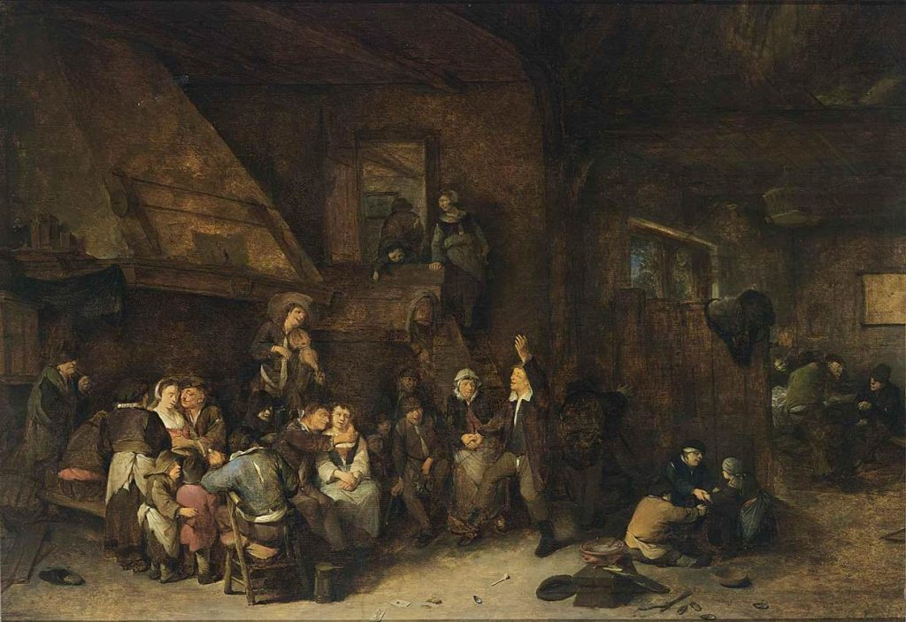 A tavern interior as painted by Cornelis Piertersz Bega in the 17th centuery
