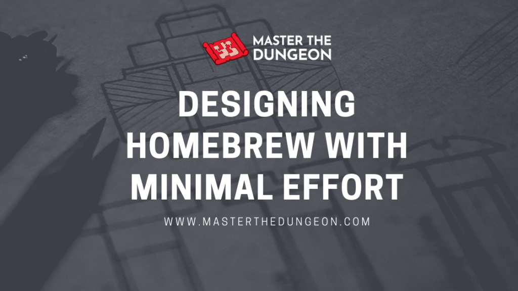 designing homebrew