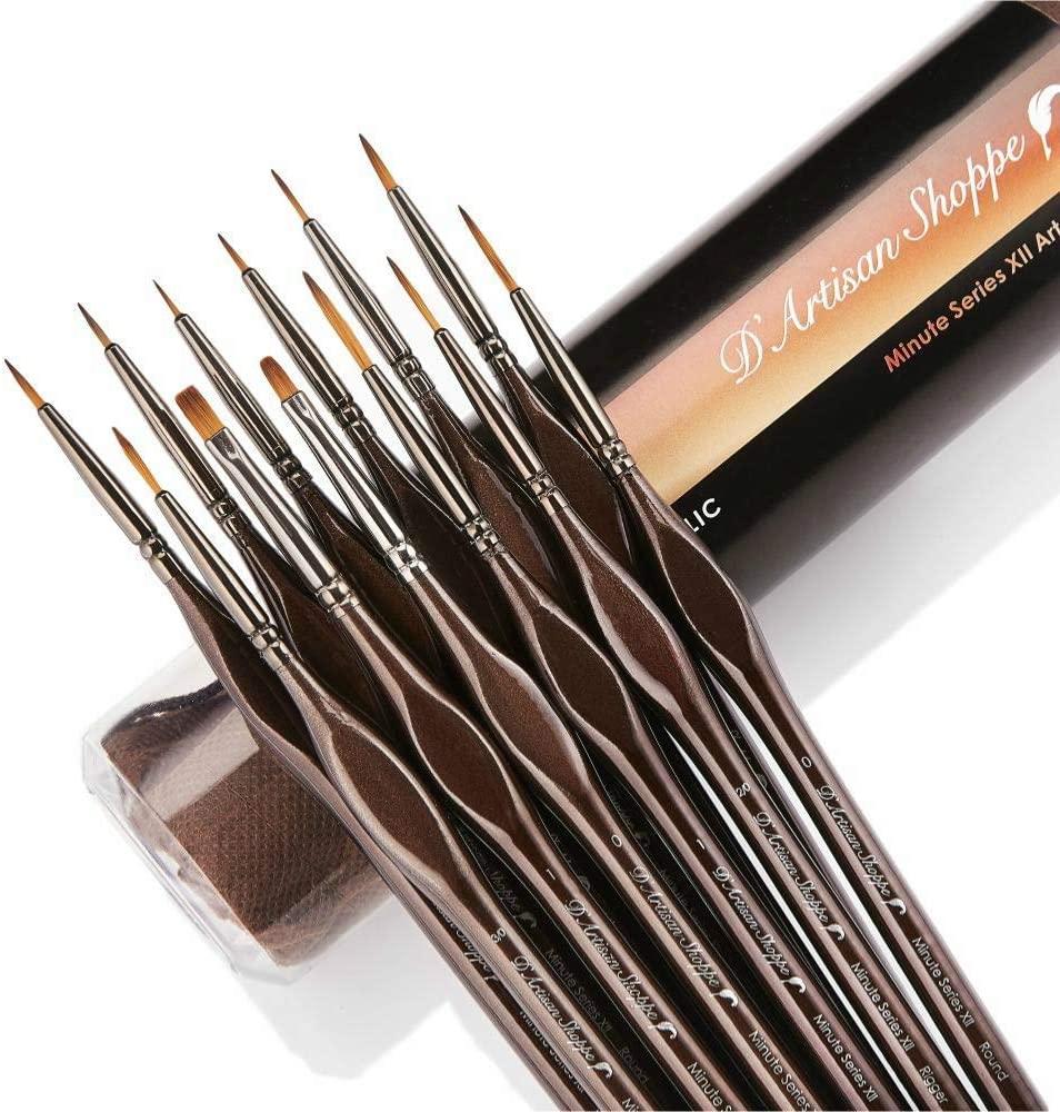 12 Piece Fine Miniature Brush Set