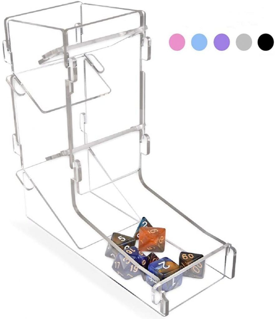 Basic Clear Plastic Dice Tower