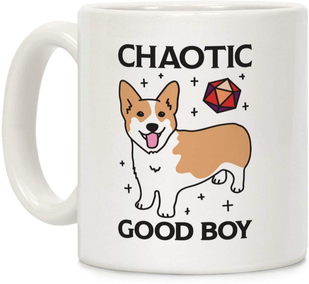 Chaotic Good Boy Corgi Mug