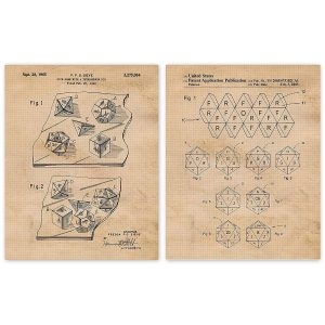 Dice Patent Posters