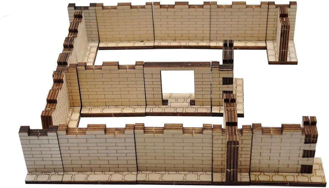 Laser Cut Dungeon Walls