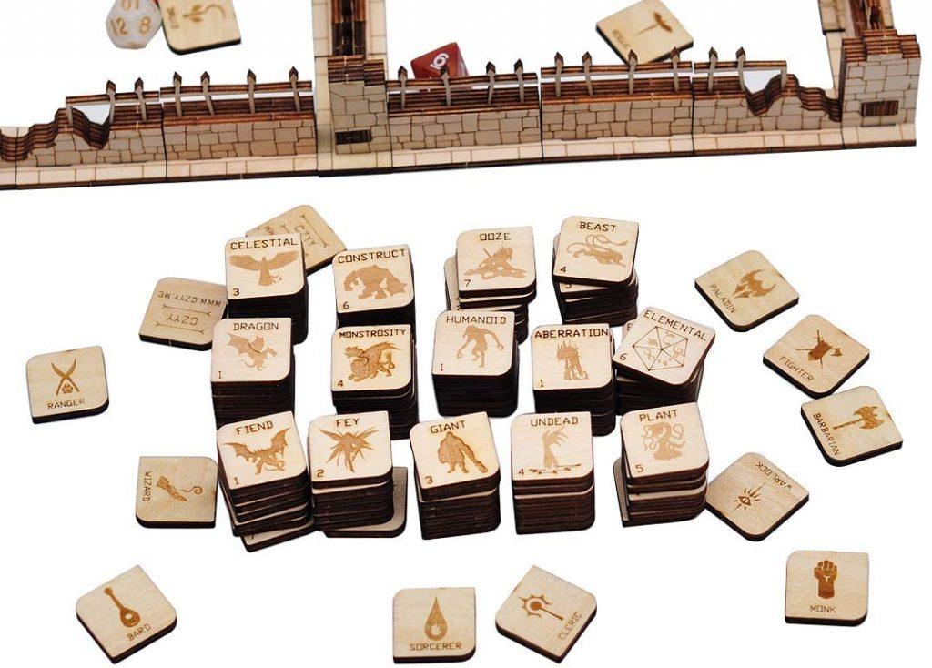 Laser cut wooden game tiles