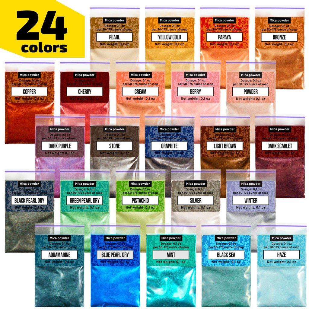 Mica Powder for coloring resin dice
