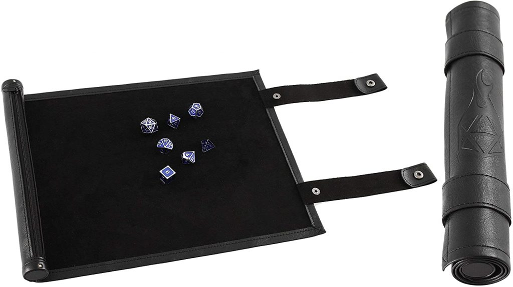 Rollable Dice Mat and Dice Holder