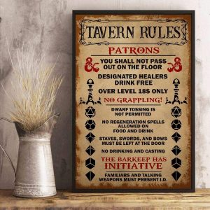 Tavern Rules Poster