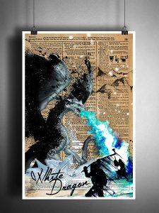White Dragon Art Print
