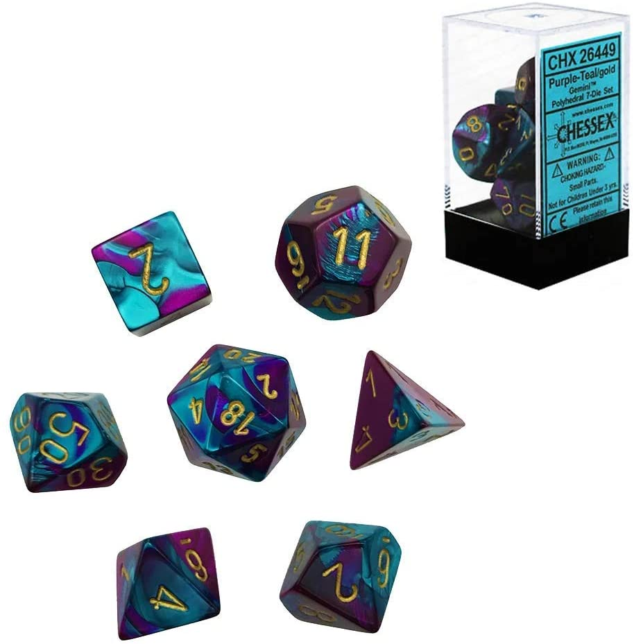 Full set of Chessex 7 Polyhedral Dice