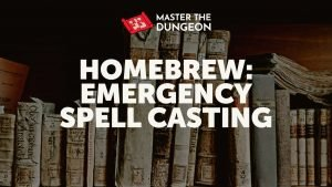 emergency spell casting